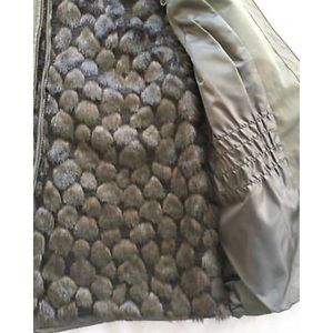Chico S Jackets Amp Coats Nwot Chicos Army Green Faux Fur